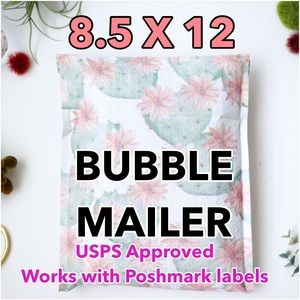 25 8.5 X 12 Cactus BUBBLE MAILERS PRICE IS FIRM